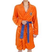 Anime  DRAGON BALL Son Goku Costumes Cosplay  velvet Bathrobe pajamas Leisure wear Fit party European size Free Shipping цена 2017