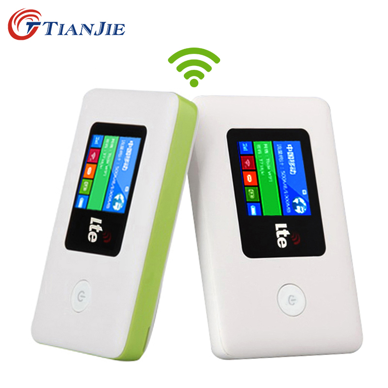 TIANJIE 4G WIFI Router Mobile WiFi LTE EDGE HSPA GPRS GSM  Travel Partner Wireless Pocket Mobile Wi-Fi Router With SIM Card Slot