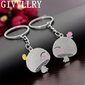 GIVVLLRRY Fashion Bushroom Baby Lovers Key Chains Personality Keychain Colorful Alloy Gift Key Ring Creative Friendship Jewelry