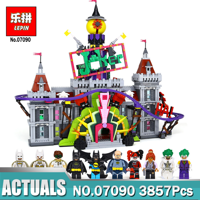 Hot Lepin 07090 Super Hero The Joker`s Manor Set Compatible Legoing 70922 Model Building Blocks Bricks Toys for Block Fans Gift hot sembo block compatible lepin architecture city building blocks led light bricks apple flagship store toys for children gift