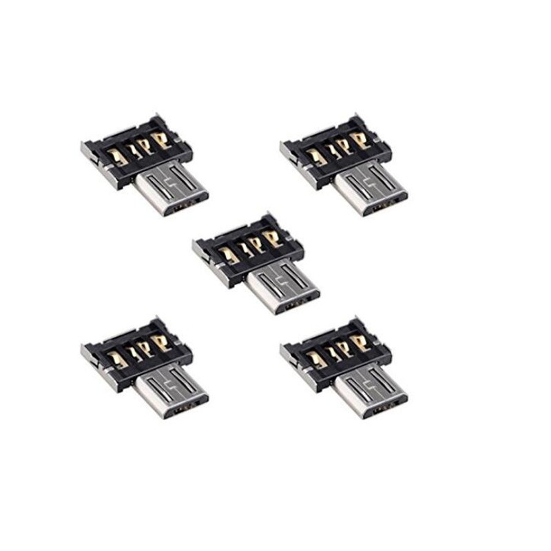 5pcs Ultra Mini DM Micro USB 5pin OTG Adapter Connector for Cell Phone Tablet & USB Cable & Flash Disk