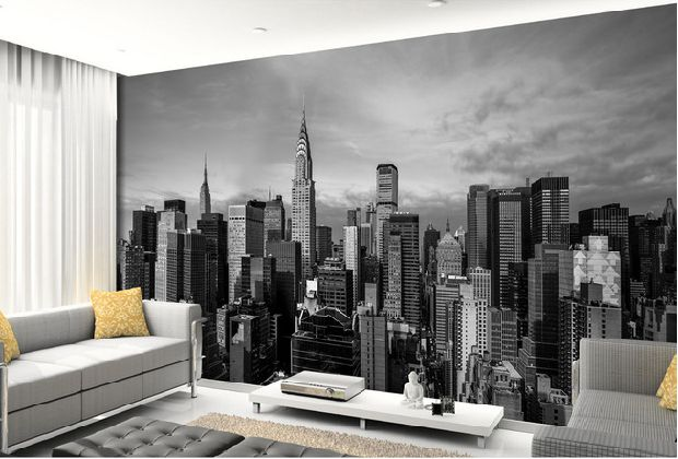 Black and white 3d photo mural Wallpaper of New York City building for Living Room background 3d wall murals wall paper wdbh custom mural 3d photo wallpaper gym sexy black and white photo tv background wall 3d wall murals wallpaper for living room