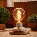 Lámpara de cerámica de la vendimia edison lámpara de escritorio 40 W decoración de la personalidad retro mesa de luz para el dormitorio de noche luz lamparas de mesa