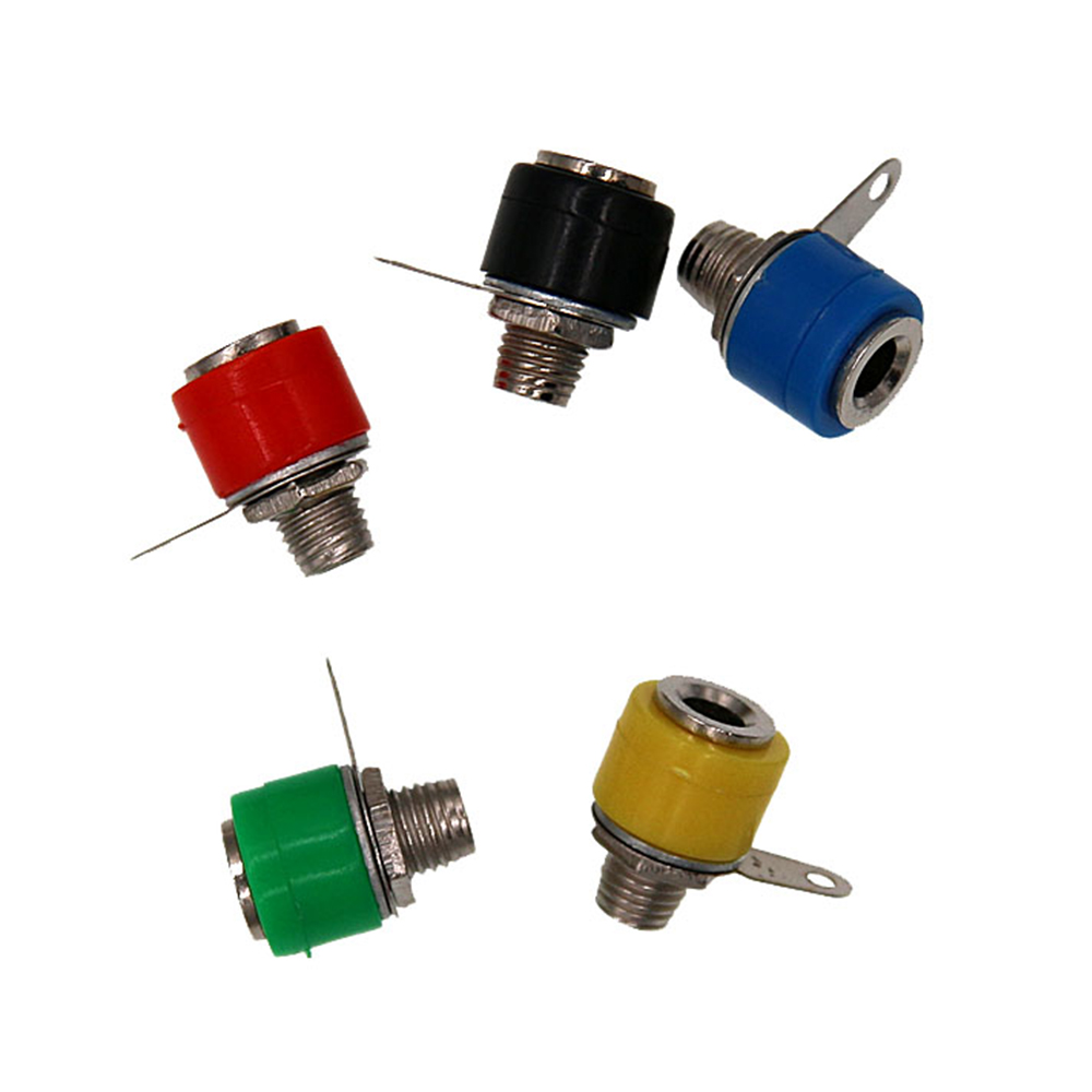 10pcs/lot Banana plug Banana Jack socket 4mm copper Dia 4 banana panel Terminal audio accessories 10pcs lot 4mm dia 30mm length 90