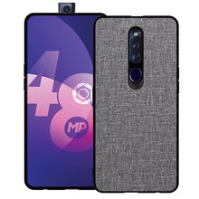 Luxury Vintage Fabric Cloth Phone Case For OPPO F11 Pro Hard Back Cover+Soft TPU Frame Bags Coque Funda