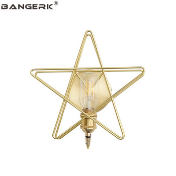 Nodern Design Stars LED Wall Light Brass Loft Wall Sconce Lighting Edison Modern Bedside Wall Lamp Home Decor Fixture Luminaire