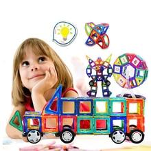 158 PCS Mini Magnetic Designer de Construção Montagem Blocos de Construção de Brinquedos Educativos para Crianças DIY Plástico Iluminar Tijolos Technic