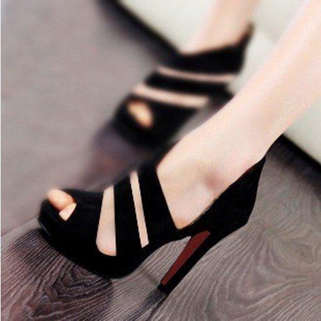 HOT 2018 Sandalia Feminina Summer Gladiator High Heels Peep Toe Sandals Casual Shoes Woman Waterproof Platform Sandals Multan