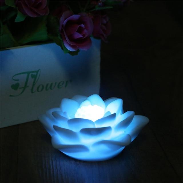 Romantique Fleur De Lotus Lumiere Changement De Couleur Lueur