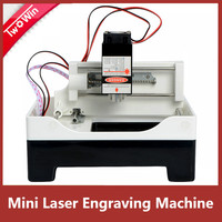 4000mw Laser mini working Area 70*70mm engraving machine DIY Print cutter laser engraver High Speed with Protective Glasses