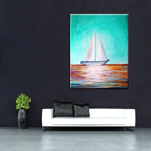 Modern Abstract Oil painting Hand Painting Canvas Art Seascape Pictures No Framed Home Decor
