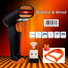 Shipping From RU Stock! NETUM S2 2.4G Wireless 1D Barcode Scanner Up to 50m 1D Larser Bar Code Scanner Reader W/2000mAh Scanner