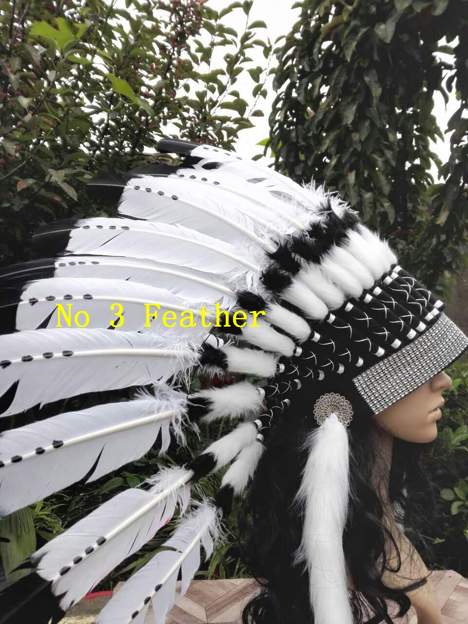 21inch High Feather Headdress Headpiece Feather Hat Halloween Feather Costume