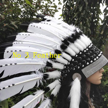 21 дюйм высокое головной убор из перьев головной убор шляпка с перьями на Хэллоуин, костюм из перьев