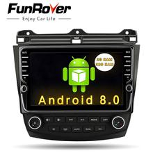 "Funrover  9"" Android8.0 2 din car dvd gps player for Honda Accord 7 2003-2007 multimedia stereo auto radio video navigation rds"