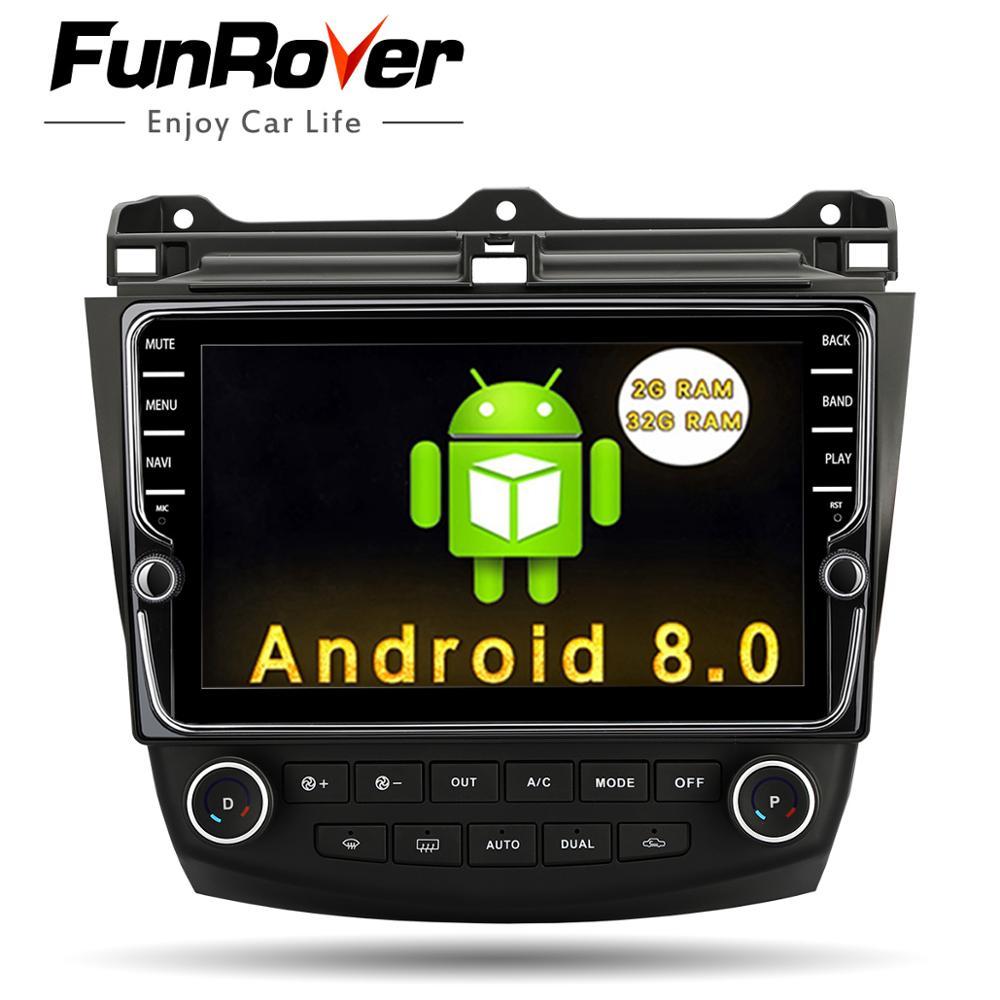 Funrover 9 ''Android8.0 2 din voiture dvd gps lecteur pour Honda Accord 7 2003-2007 multimédia stéréo auto radio vidéo navigation rds