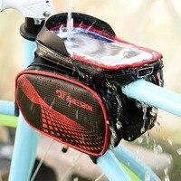 Bisiklet Çanta Çerçeve Ön Baş En Tüp Su Geçirmez Bisiklet Çantası Dokunmatik Ekran Cep Telefonu Bisiklet Aksesuarları Için Bisiklet Çantası