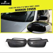 Замена бокового зеркала заднего вида из углеродного волокна крышки для VW Golf IV MK4 1997-2003