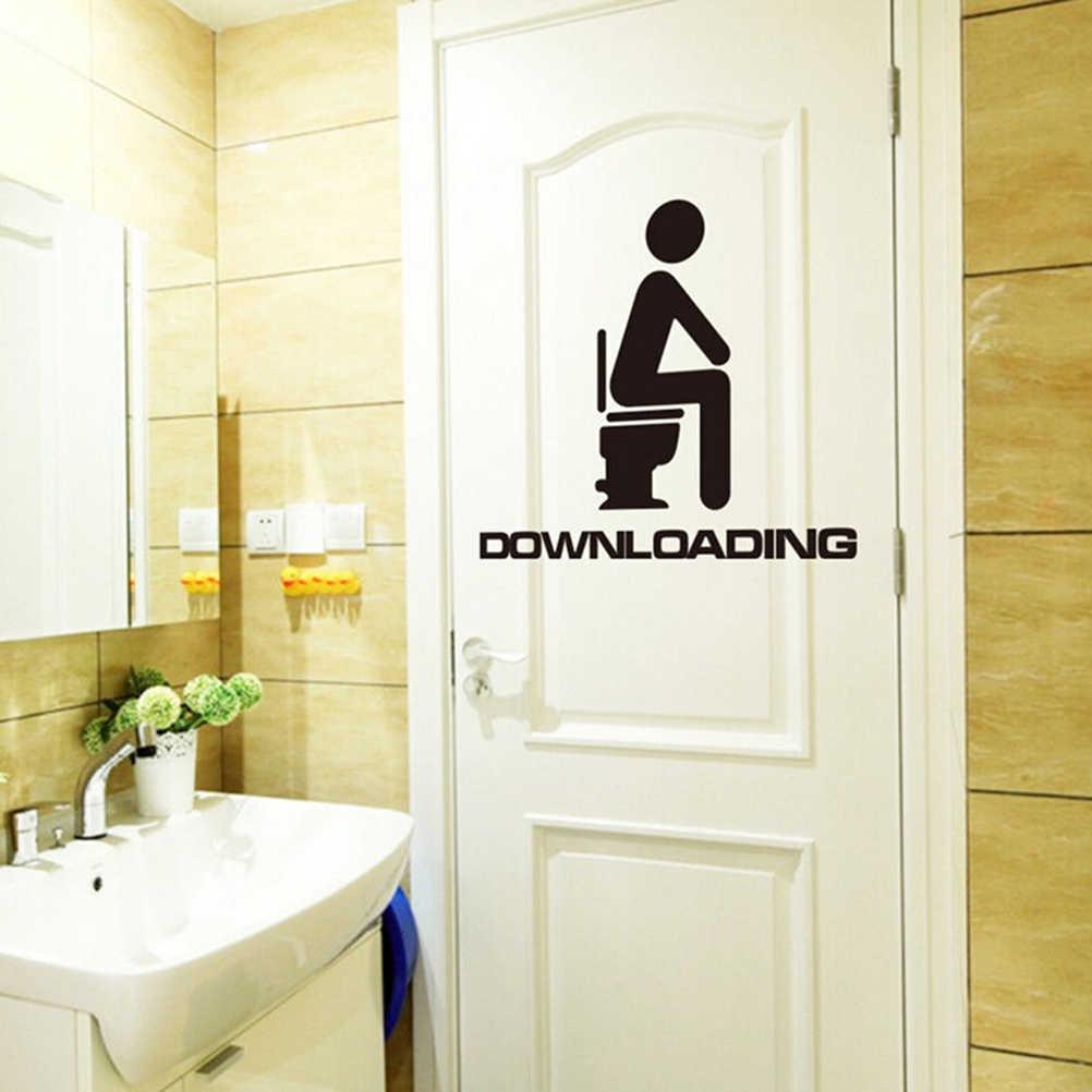 ร้อนขายขายห้องน้ำสติ๊กเกอร์ติดผนังกันน้ำที่ถอดออกได้ไวนิลหน้าแรกตกแต่ง Art Decals โปสเตอร์วอลล์เปเปอร์