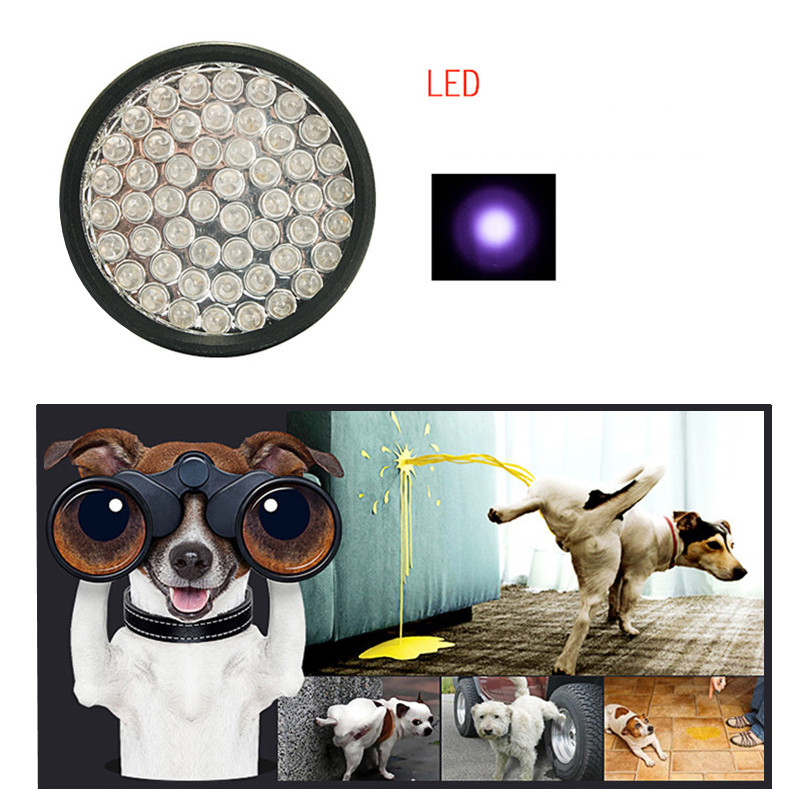 Petacc UV Flashlight LED Pet Urine Detector Pet Urine Detecting Light With 51 UV LED Beads For Pet Urine, Dry Stains And Bed Bug