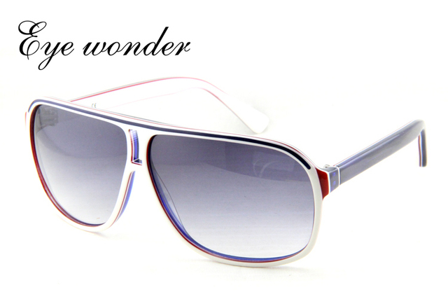 Eye wonder Men's Handmade Acetate Polarized Designer Sunglasses Oculos de sol Gafas de sol Glasses Frames UV Protection