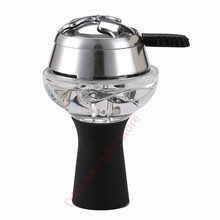 1pcs Silicone Glass shisha hookah bowl and 1 pcs frosted cha