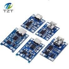 10 adet mikro USB 5V 1A 18650 TP4056 lityum pil şarj cihazı modülü şarj kurulu koruma ile çift fonksiyonları 1A Li ion