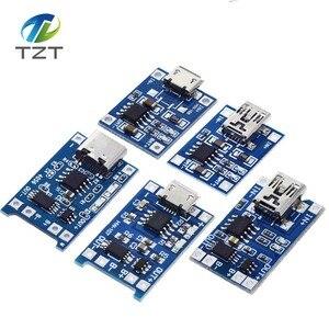 Image 1 - 10 adet mikro USB 5V 1A 18650 TP4056 lityum pil şarj cihazı modülü şarj kurulu koruma ile çift fonksiyonları 1A Li ion