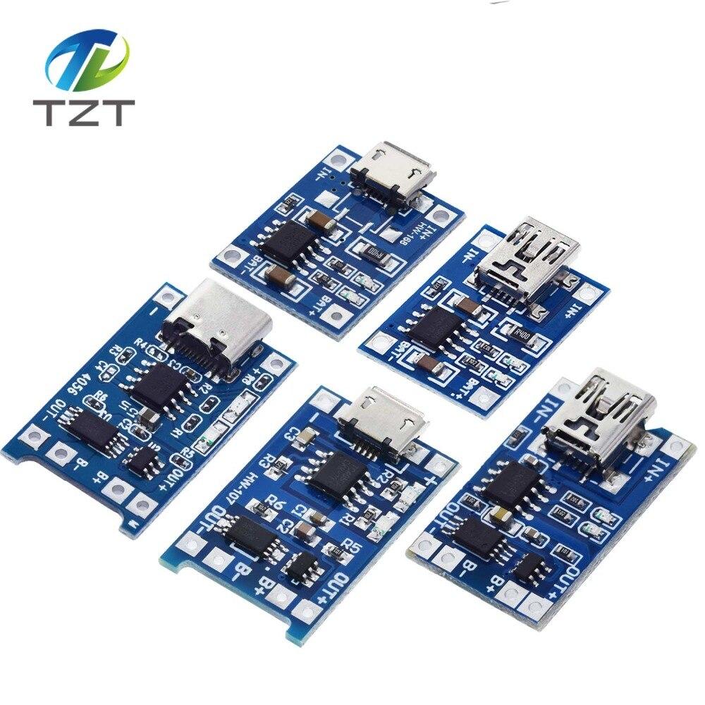 10pcs TP4056 5V 1A Micro USB 18650 Lithium Battery Charging and Protection HUK