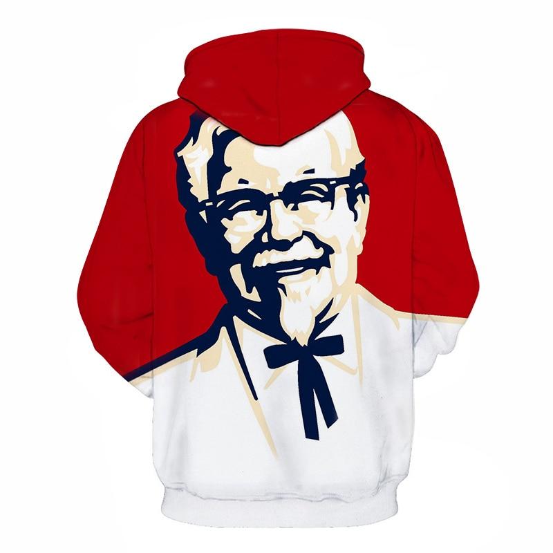 Fashion design KFC grandfather hoodie hip hop streetwear long-sleeved pullover sweatshirt sportswear hoodie McDonalds Hamburg