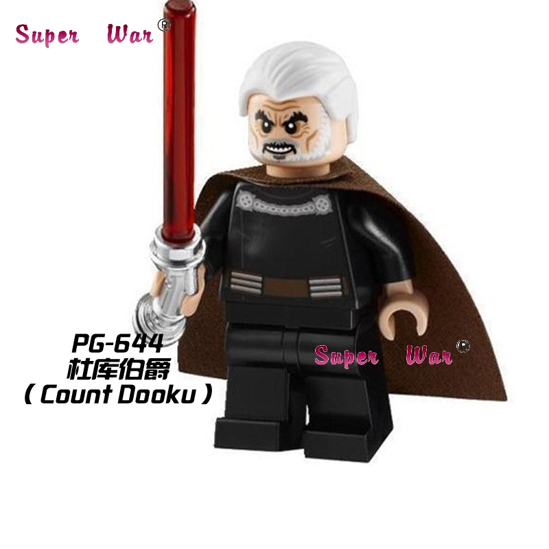 1PCS  Superhero Marvel Count Dooku Collection Building Blocks Action  Sets Model Bricks Toys For Children