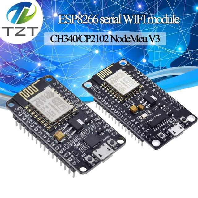 US $1 24 10% OFF|Wireless module CH340/CP2102 NodeMcu V3 V2 Lua WIFI  Internet of Things development board based ESP8266 ESP 12F with pcb  Antenna-in