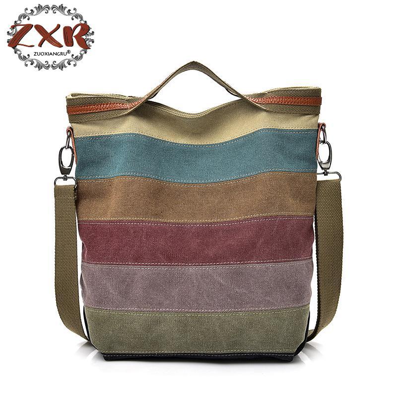 Zuoxiangru Casual Canvas Shoulder Bag Simplicity Female Handbag Soft Medium Size Messenger Bag For Teenagers