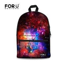 Forudesigns frauen rucksäcke kühle bunte galaxy star leinwand bagpack für teenager mädchen lässig reise kind schule laptop rucksack