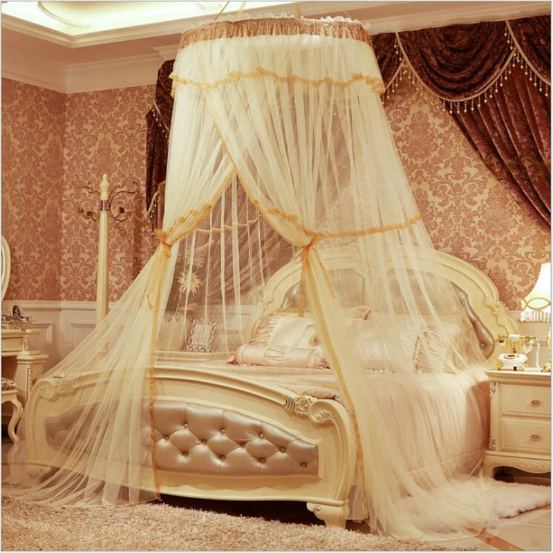 Canopy Bed For Adults aliexpress : buy elegant round lace curtain hung dome mosquito