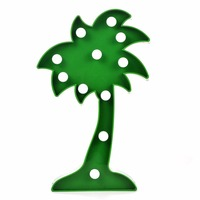 3D Marquee Letters LED Coconut Tree Light Battery Baby Nightlight Marquee Lamp With 11 Warm White