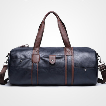 ETONWEAG Brands Cow Leather Duffle Bag Black Zipper Vintage Travel Bags Hand Luggage Big Capacity Organizer Men Traveling Bag 1