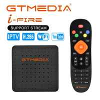 Nueva llegada GTmedia del IFIRE TV Box 4K HDR caja STB Ultra HD WIFI Xtream IPTV acosador IPTV Youtube Set top BOX reproductor de medios de comunicación de Internet