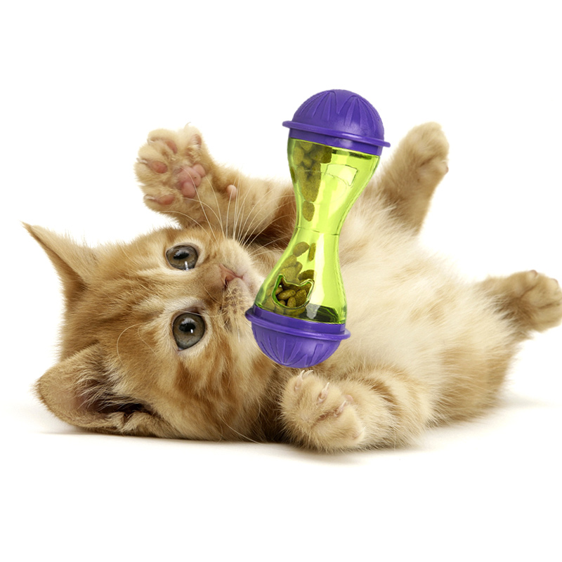 Cat Dog Feeder Puppy Leakage Food Toy Plastic Funny Pet Food Dispenser Treat Ball Hg99