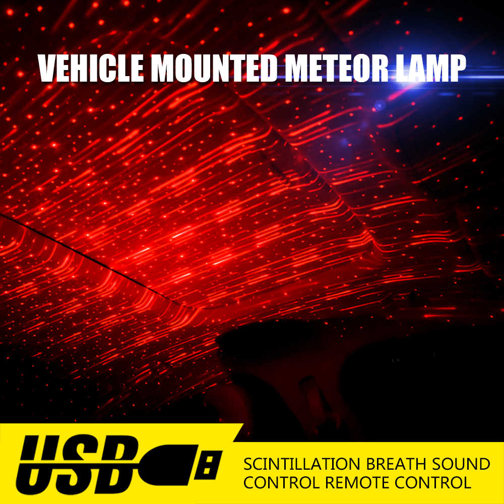 1Pcs Car USB Plug Atmosphere Light DJ Mini Colorful Music Sound Lamp laser  star light Remote Control Enjoy Christmas Day Gift