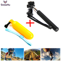 Accessories go pro monopod with tripod mount + Handler Floating hand grip bobber for gopro hero 4 2 3+ sj4000 sport cam LD12
