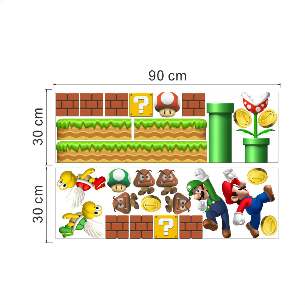 Wall stickers mario gallery home wall decoration ideas classical game super mario wall stickers for kids room home decor classical game super mario wall amipublicfo Gallery