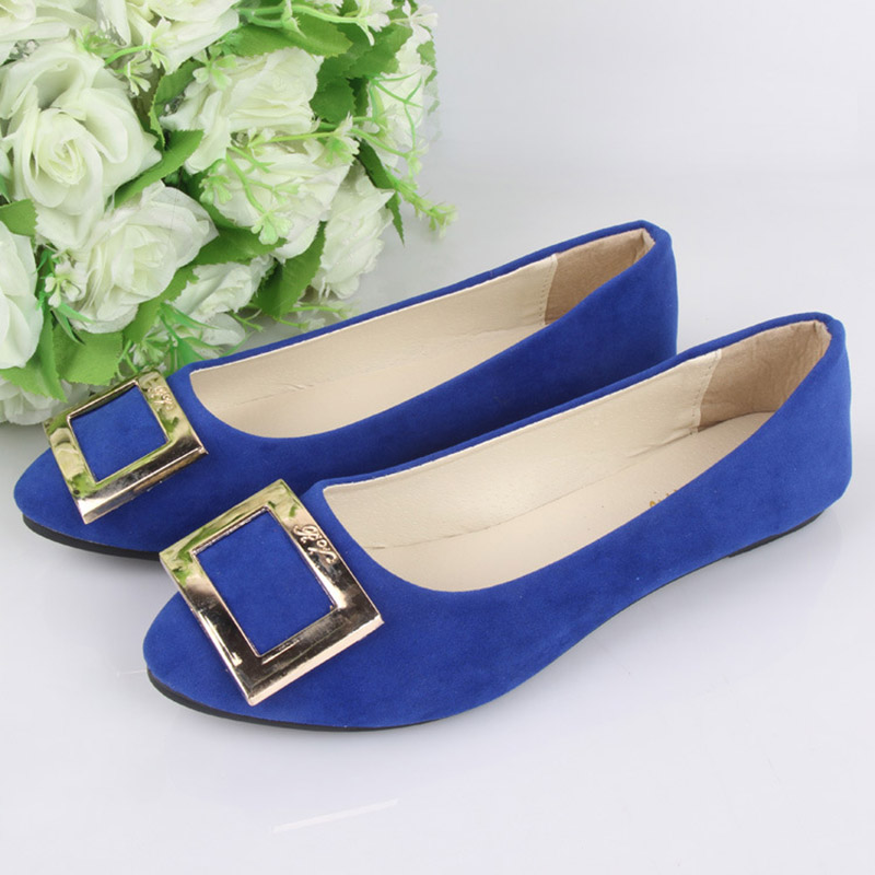 Spring Autumn Fashion Women Shoes Pointed Toe Slip-On Flat Shoes Woman Comfortable Single Casual Flats Size 35-42 zapatos mujer new 2016 spring autumn summer fashion casual flat with shoes breathable pointed toe solid high quality shoes plus size 36 40