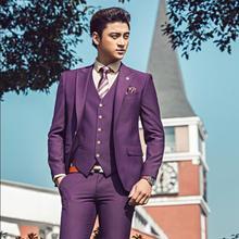 Blazer men formal dress pant three-piece set suit men costume homme terno masculino marriage wedding suits for men's vest
