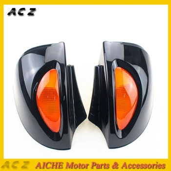 1 Pair Rearview Glass Side Mount Mirrors with Signal Lens For BMW R1100RT R1150RT R850RT Blind Spot Mirror Wide RearView Mirror image