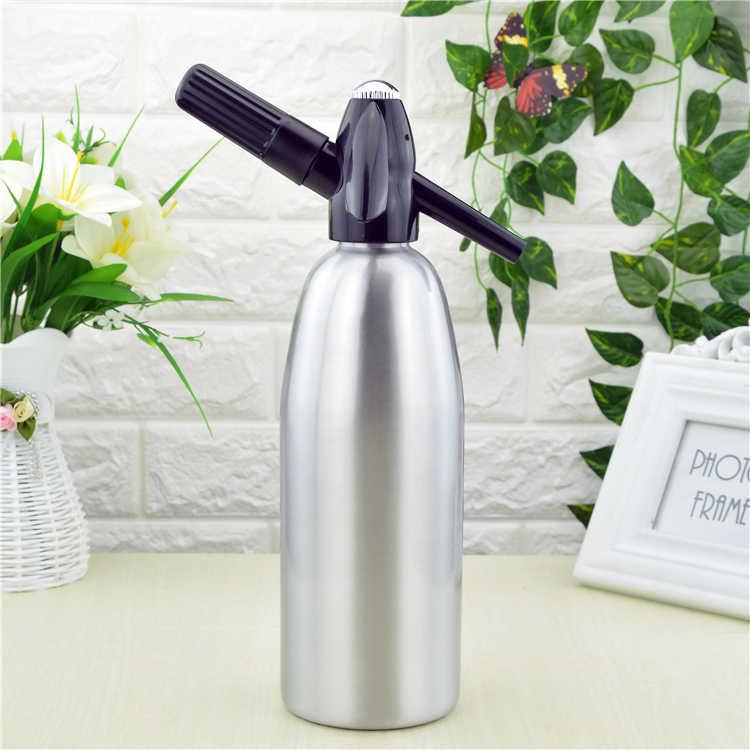 Руководство 1L сифон для содовой CO2 диспенсер для воды генератор мыльных пузырей прохладный напиток коктейль Сода машина алюминий бар DIY бутылка с сифоном