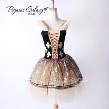 Girls Ballet Tutu Dress Lady Competition Professional Dance Costume Adult Black Romantic Ballet Tutu Suit Ballerina Dress B-6359
