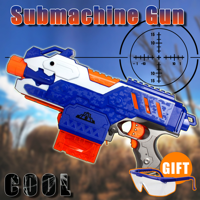 Electric Emission Toy Guns outdoor fun sports airsoft pistol Shooting Submachine Gun Children Gifts Toys Gun