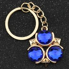 Легенда о Зельде, брелок, логотип Triforce Symbol, золотой цвет, кристалл, брелок для ключей, модное, популярное, ювелирное изделие