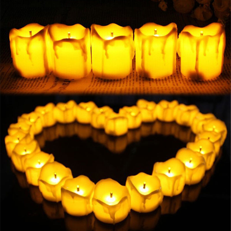 Flameless LED Candle Flickering Tea Lights Battery Operated Wedding Home Candles